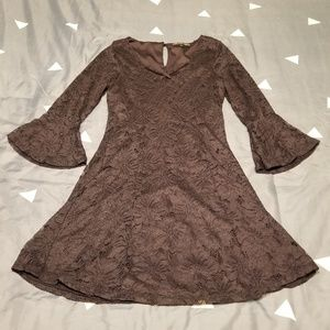 Three Pink Hearts Lace Dress